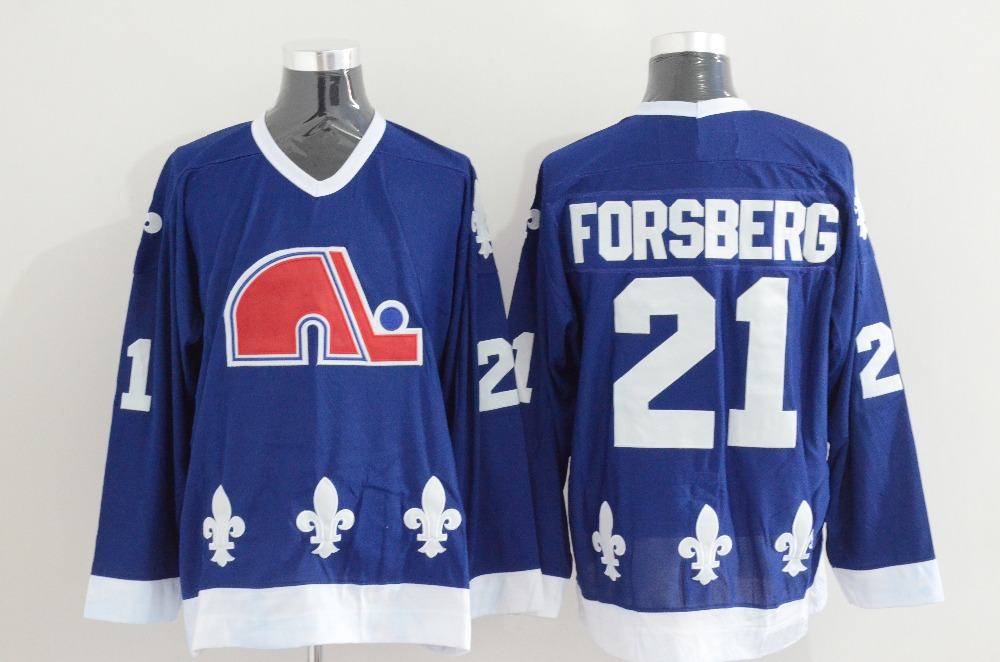 ... top quality mens quebec nordiques 21 peter forsberg 26 peter stastny  throwback ice hockey jersey double 55484b207