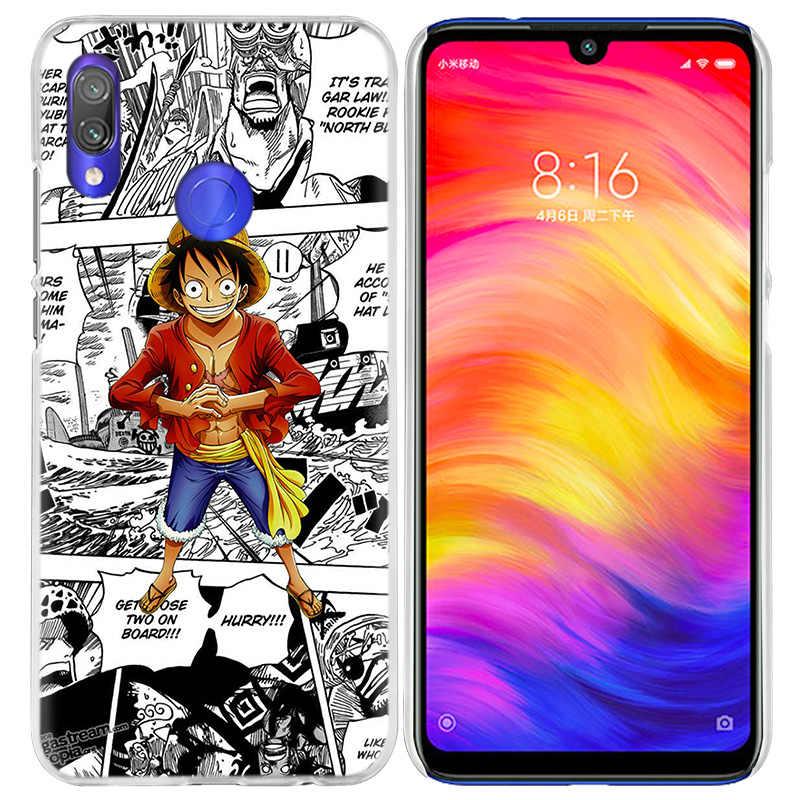 Чехол one piece Аниме для Xiao mi Red mi Go Note 7 6 6A Pro S2 5 5A 4X mi A1 A2 9 mi x 3 5G 8 lite Play F1 жесткий чехол для телефона из ПК