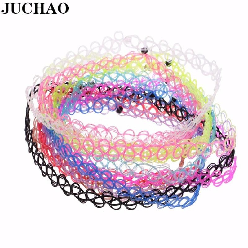 Женское винтажное ожерелье JUCHAO, чокер-тату из эластичного материала, ожерелье в готическом стиле, свадебный подарок