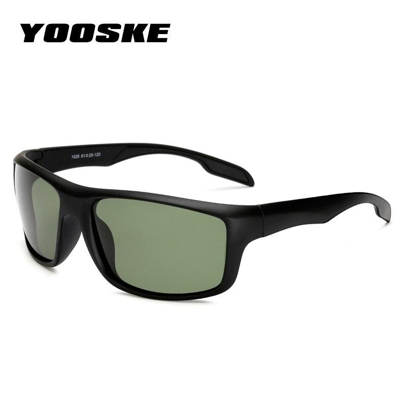 3ec5cdcd27a04e Yooske Lunettes Hommes lunettes de Soleil Polarisées Classique Rétro Marque  lunettes de Soleil Revêtement Lecteur Blanc ...