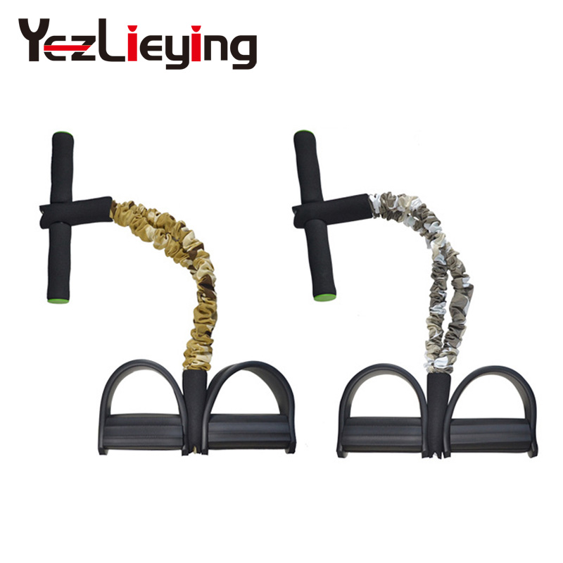 YL Leg Training Device Stretch Resistance Thin Pedal spring Exerciser Rally Rope Yoga Gym Fitness Exercise Equipment Sit-ups