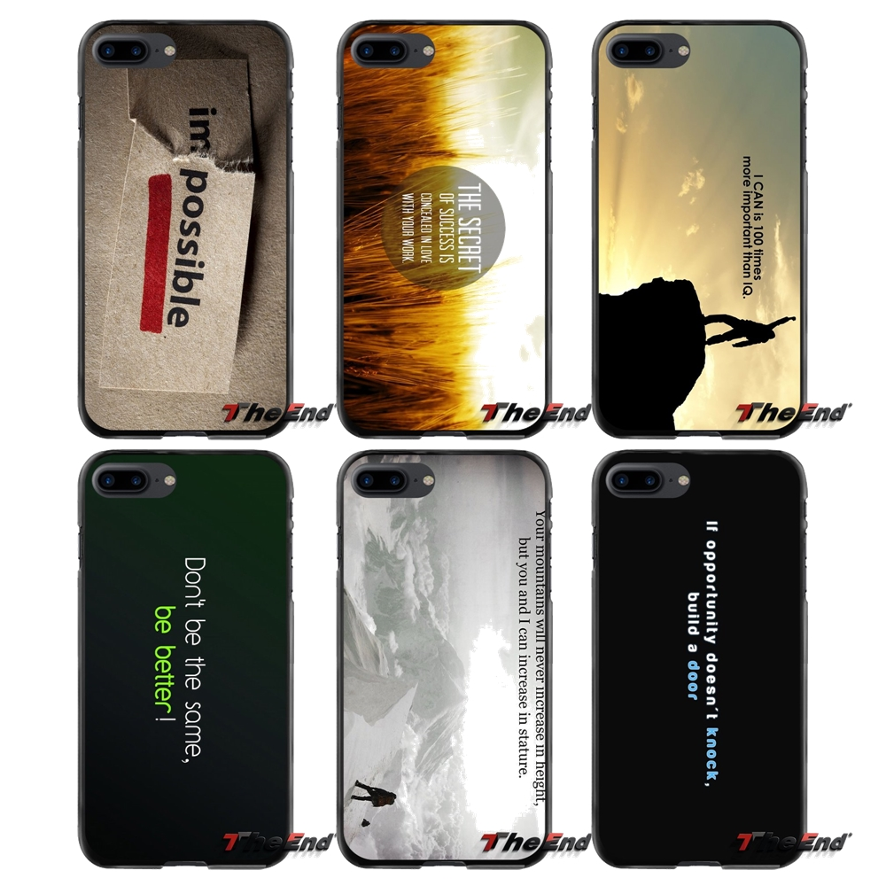 For Apple iPhone 4 4S 5 5S 5C SE 6 6S 7 8 Plus X iPod Touch 4 5 6 Accessories Phone Shell Covers Motivational Quotes Print