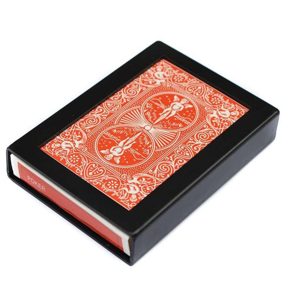 Amazing Magic Deck Desappearing Vanishing Magic Card Case Fun Poker Vanishing Caso Caso de fuga de trucos de magia Close Up Color: A