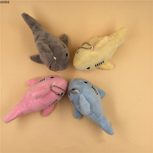 1Pcs Plush Keychains Shark Stuffed Toy Doll Mini Small Ocean Animal Key Chain Pendant Baby Gift Kids Backpack Keychain Bag