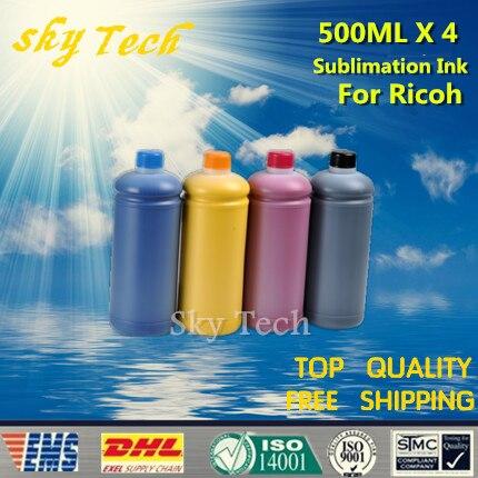 500ML * 4 sublimatie-inkt voor Ricoh, GC-41 GC-31 sublimatie-inkt - Office-elektronica