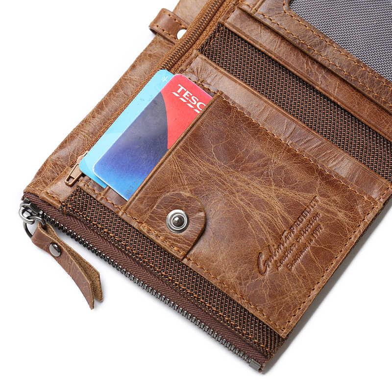 GUBINTU натуральная Crazy Horse кожаный мужской кошелек короткий кошелек для монет маленькие винтажные кошельки брендовые высококачественные дизайнерские carteira
