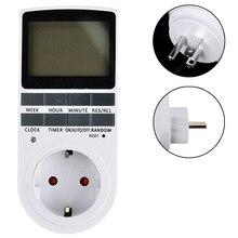 Digital Timer Switch EU/US Plug Kitchen Timer Outlet 230V 50HZ 7 Day 12/24 Hour Programmable Timing Socket