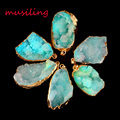 musiling Jewelry Rock Crystal Geode Druzy Pendant Necklace Gold Plated Natural Stone Pendulum Accessories Fashion Jewelry 1pcs