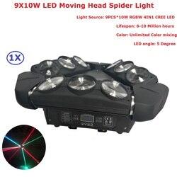 2019 najnowszy ruchoma głowica pająk światła 9X10W RGBW cztery kolory Led wiązka światła profesjonalny etap Dj Disco oświetlenie imprezowe sprzęt