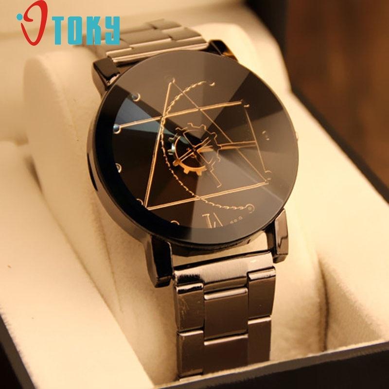 Creative Watch Women Men Fashion Lovers' Watch Stainless Steel Quartz Watch Men relogio feminino bayan kol saati