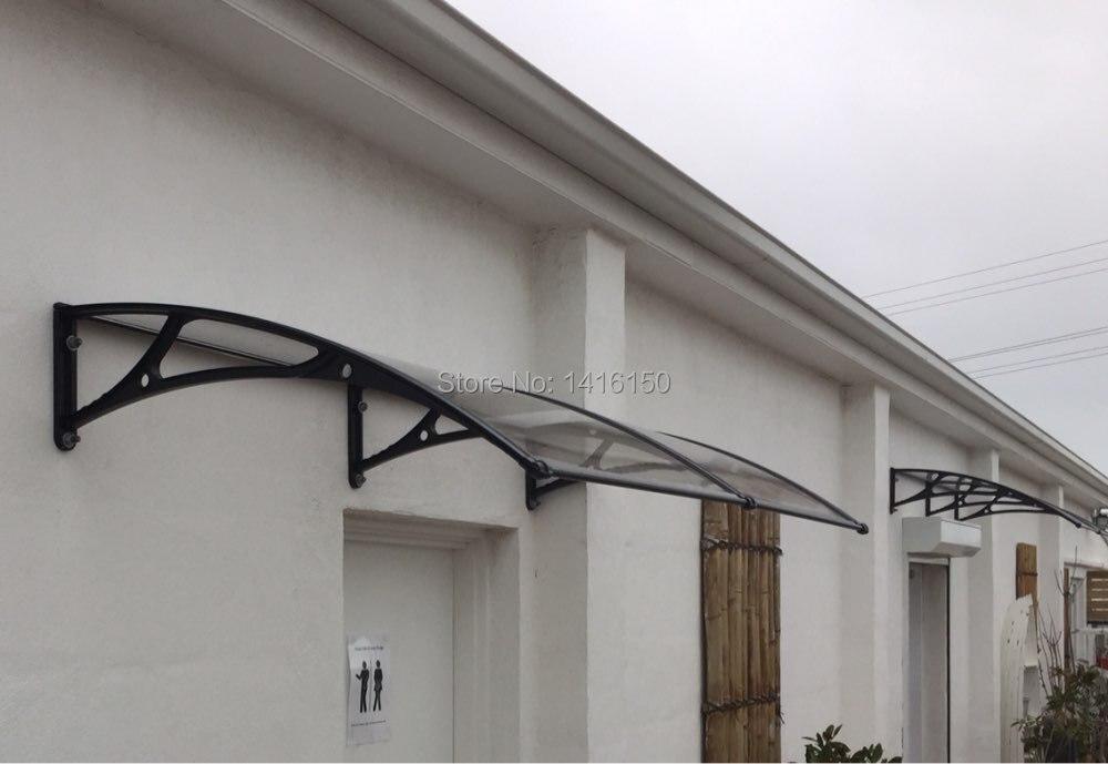 use door bracket with pc sheet door window canopy awnings