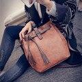 Сумка-ведро с кисточками  Женская Популярная Ретро сумка-мессенджер на плечо  большой кошелек  сумка для телефона  2018 новая женская сумка NB048