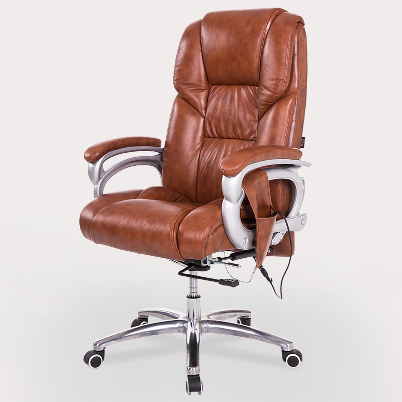 Boss Executive Office Massage Chair Vibrating Ergonomic Computer Desk Chair Home Office Furniture Leather Gamer Chair Armchair giantex pu leather ergonomic office chair armchair executive chair boss lift chair swivel chair office furniture hw10069