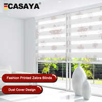 High Quality Zebra Blinds Big Dustproof Cover System day night blinds window bedroom living room Roller Blinds Custom Size