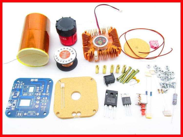 15-24V//2A 15W Mini Tesla Coil Plasma Electric Arc Electronic Kit Music PlayA+