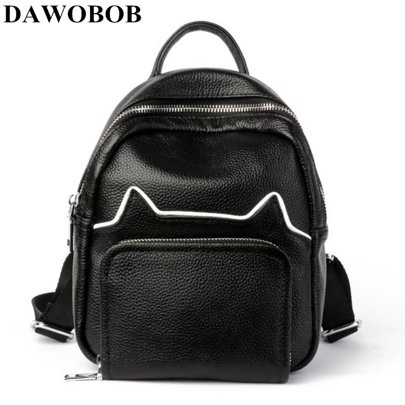 DAWOBOB Fashion Women Leather Backpack For Girls 2018 Backpacks Black Backpacks Female Fashion Girls Bags Ladies Black BackpackDAWOBOB Fashion Women Leather Backpack For Girls 2018 Backpacks Black Backpacks Female Fashion Girls Bags Ladies Black Backpack