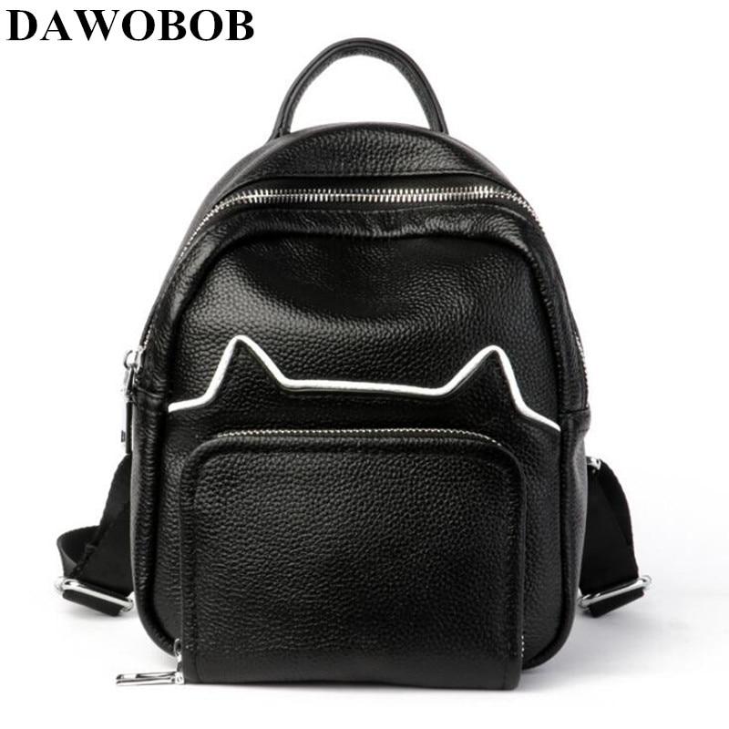 DAWOBOB mode femmes en cuir sac à dos pour filles 2018 sacs à dos noir sacs à dos femme mode filles sacs dames noir sac à dos