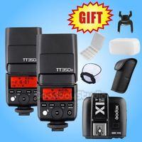 2X Godox TT350S TT350 GN36 2.4G TTL HSS Mini Flash Speedlite for Sony Mirrorless Camera