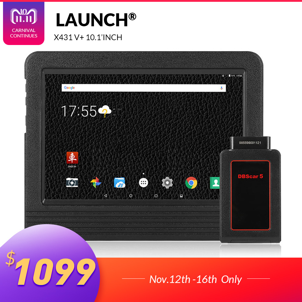 купить LAUNCH X431 V Plus 10.1inch Wifi/Bluetooth Auto diagnostic tool with 2 year free update X431 V+ Car Scanner Same as X431 Pro3 недорого
