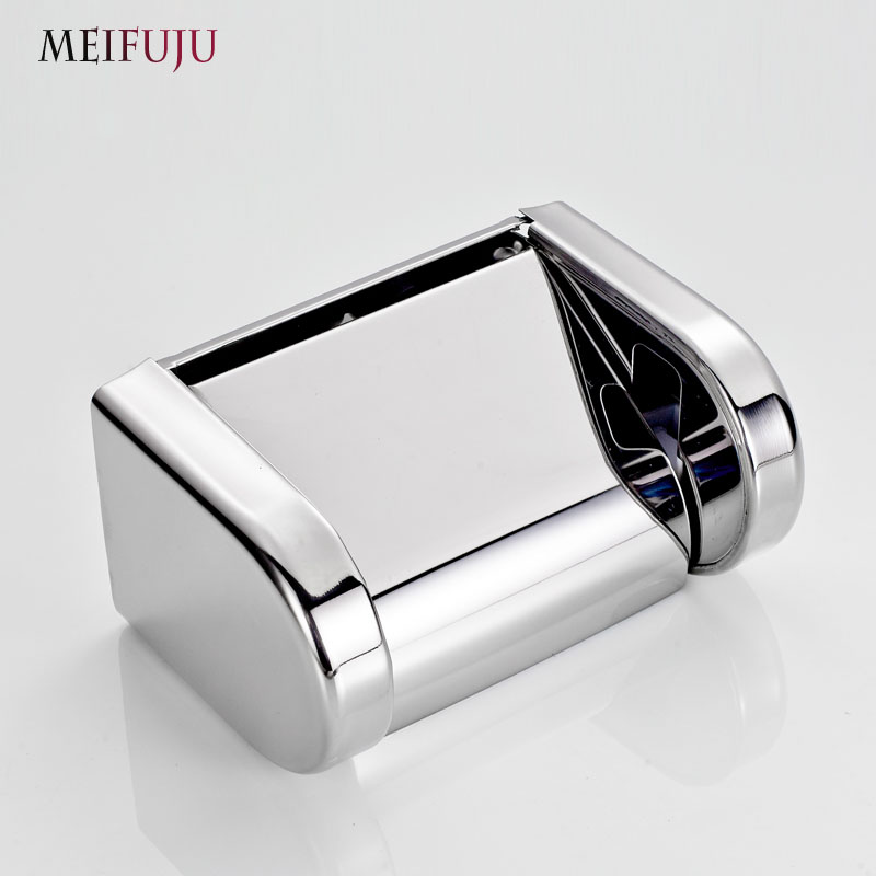 ФОТО Toilet Paper Box Stainless Steel Holder roll Tissue Wall mouted For bathroom accessories support papier toilette salle de bain