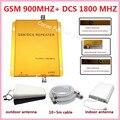 Conjuntos completos GSM + DCS 900 1800 Dual band 65db telefone celular repetidor/booster/amplificador, GSM 4G reforço de sinal de celular para o escritório
