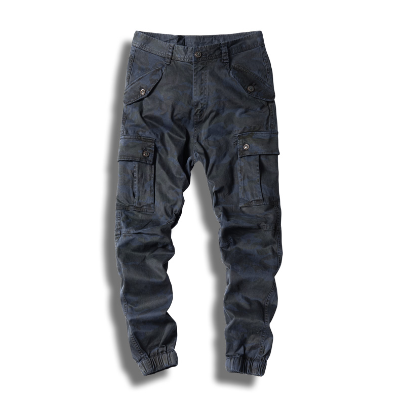 LetsKeep hommes Camouflage Cargo pantalon hommes Camo militaire pantalon Joggers avec élastique Multi poches armée pantalon LetsKeep LK-ZA310