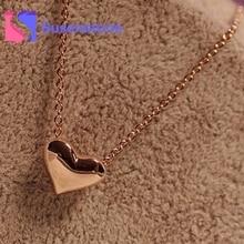 2017 Hot Sale Elegant Women Gold Heart Bib Statement Pendant Chain Necklaces Women Choker Jewelry Accessory Wholesale All Match