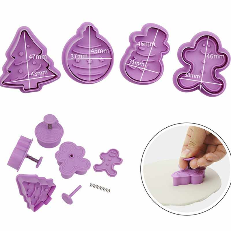 Christmas Cookie Cutter Cut Candy Biscuit Mold Cooking Tools Christmas Theme Metal Cutters Mould Snowflake Snowm