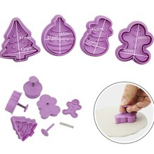 Christmas Cookie Cutter Cut Candy Biscuit Mold Cooking Tools Theme Metal Cutters Mould Snowflake Snowm
