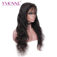 YVONNE Body Wave Lace Front Human Hair Wigs For Women 180 Density Virgin Brazilian Hair Wig With Natural Color