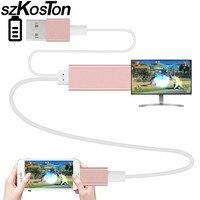 Kabel HDMI HDTV TV Adapter USB 1080 P dla Apple Air Air2 iPhone 5 5S 5SE 6 6 S 6 PLUS 6 S PLUS 7 7 plus Ipad z HDMI efekt kabel