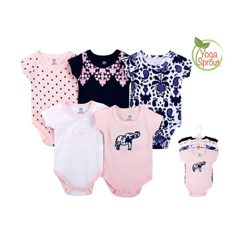 newest 100% cotton rompers boys girls jumpsuit 0-12M novel newborn roupa de bebe suit set 5pcs/lot baby clothes product NO.91092
