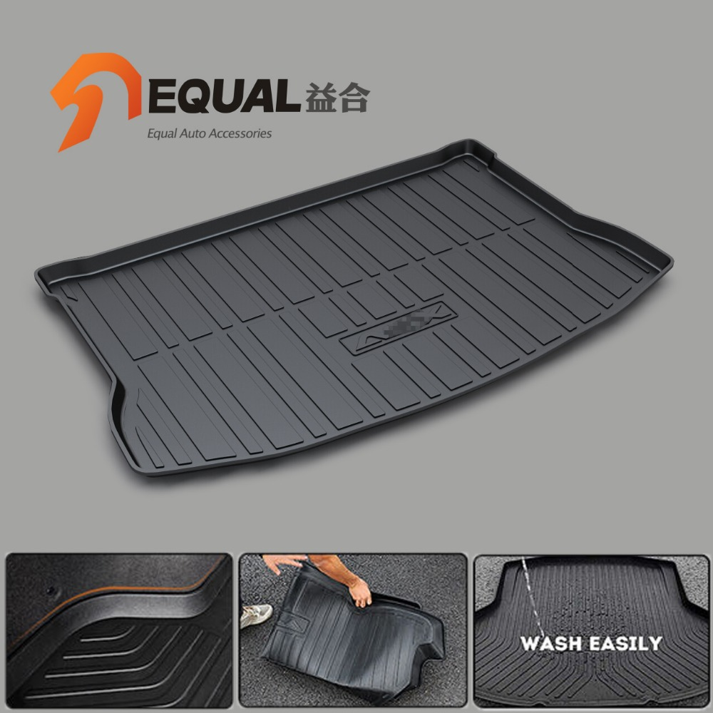 Cargo Liner Trunk Mats for MITSUBISHI ASX PAJERO outlander PAJERO SPORT LANCER EX BOOT LINER REAR TRUNK CARGO MATS TRAY CARPET for mitsubishi asx lancer 10 9 outlander pajero sport colt carisma canbus l200 w5w t10 5630 smd car led clearance parking light