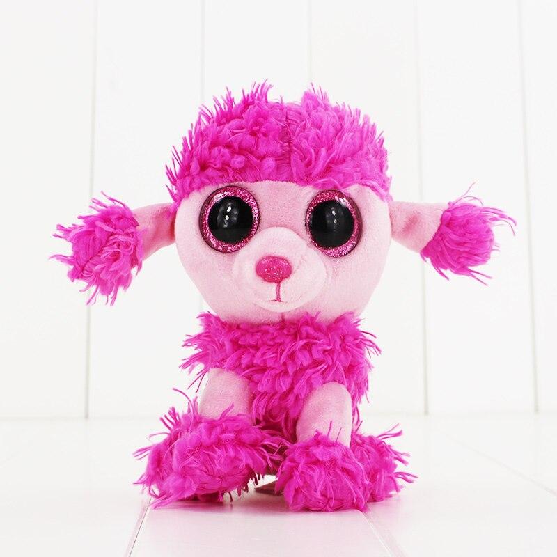 15 см Ty Beanie Боос большие Средства ухода для век плюшевые игрушки куклы розовый Пудель Собака ty подарок для маленьких детей Коллекция Мягкие п...