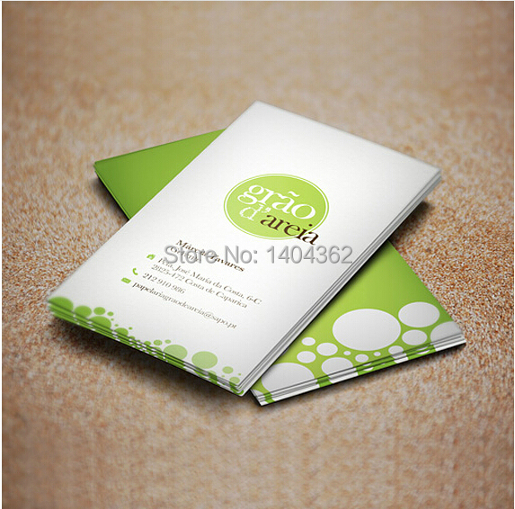 High-grade 200pcs/lot Paper Business Card 300gsm Paper Cards With Custom Logo Printing NO.1014