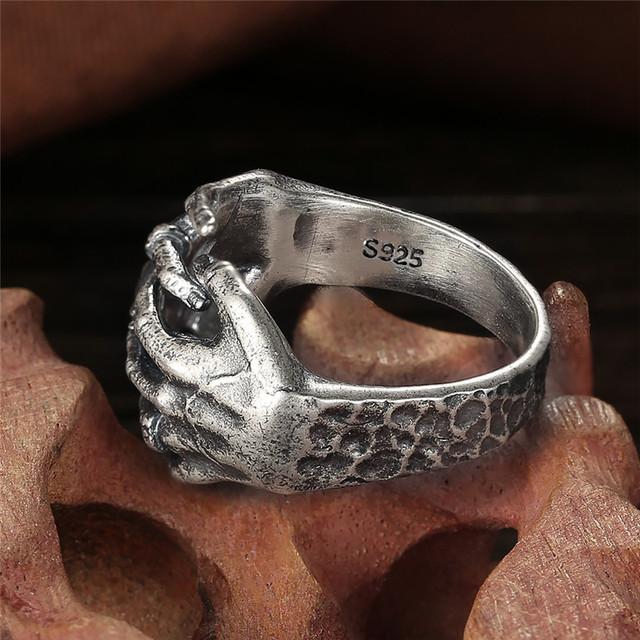 ORIGINAL 925 STERLING SILVER SKULL HAND RINGS