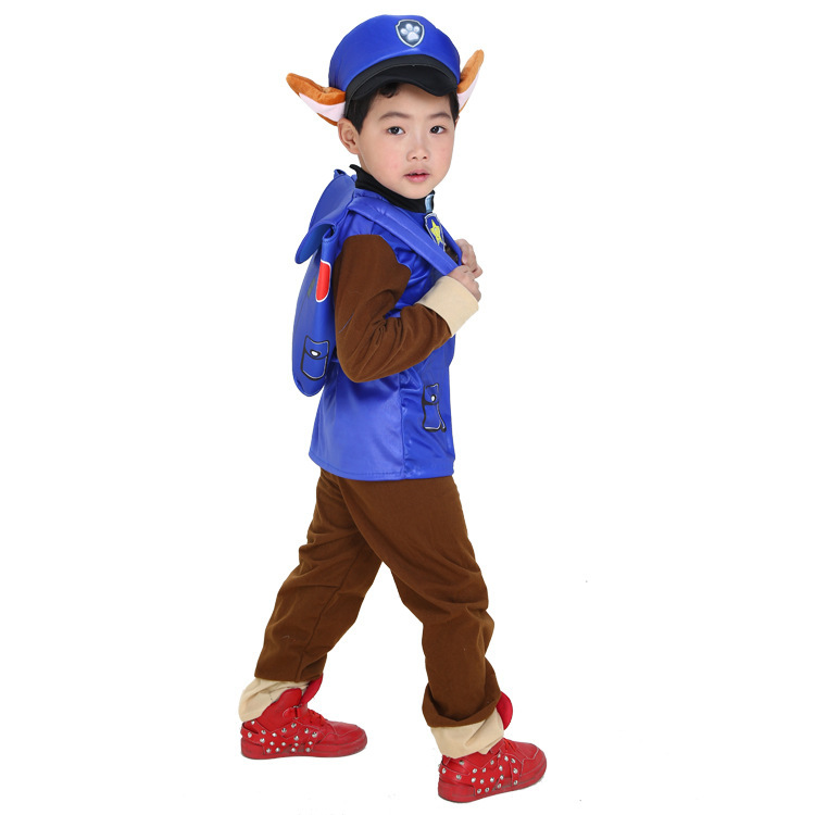 2019 New Kids Carnival Clothing Children Patrol dogs Marshall Chase Skye Cosplay Costume Boy Girl Halloween Party Role Play up