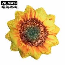 Golden Sunflower Cushion Floral Shape Polyester Seat Sofa Car Throw Pillow Home Decorative Cushions Housewarming Gift 40 X40cm