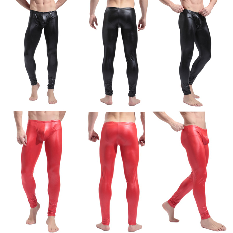 Description. This just in: glam is back! Well, maybe not the long hair, but definitely the tight, shiny pants. Slap on a pair of these comfortable liquid-metal leggings and everyone at the club, rave, or other hip new venue will know who really wants to rock.
