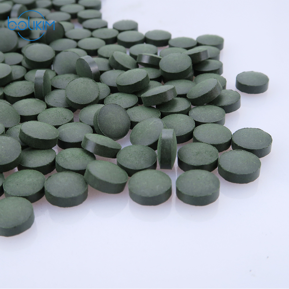 Brand 2000pcs Accredited Quality Anti Fatigue Anti Radiation Enhance immune natural Organic Spirulina Tea Tablet Rich