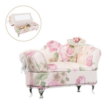 Jewelry  Small Ornaments Suit Creative Countryside Cloth Sofa Jewelry Box Bedroom Decoration Dollhouse Furniture Toys