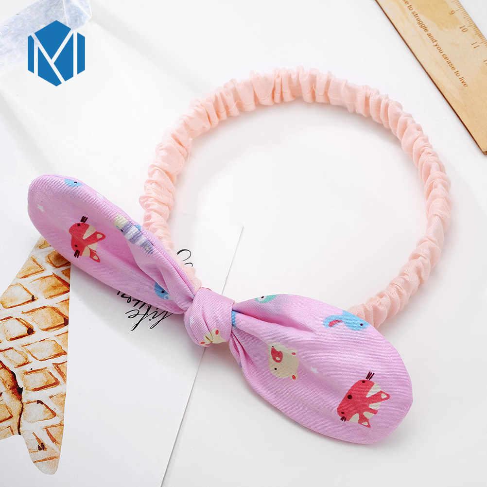 Детские ленты для волос с цветами печать цветы вишня эластичная повязка на голову для маленьких девочек милые аксессуары для волос милая эластичная повязка на голову
