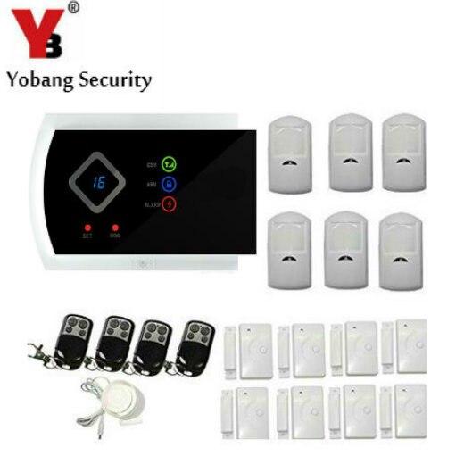 YobangSecurity Russian Spanish Italian Slovak APP Wireless GSM Autodial SMS Text Home Office Security Burglar Intruder Alarm