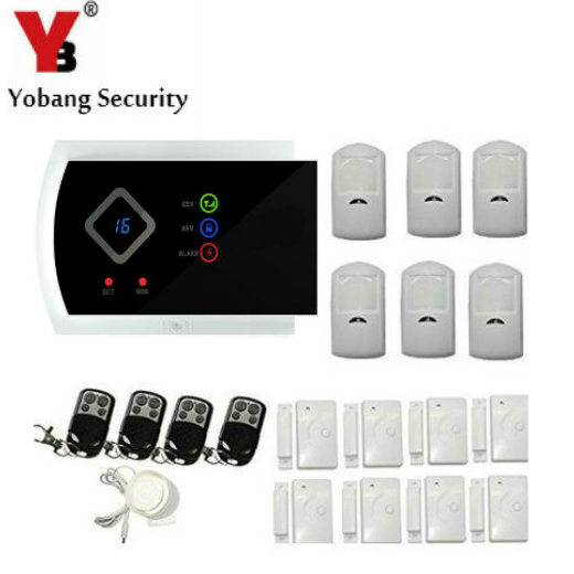 YobangSecurity Russian Spanish Italian Slovak APP Wireless GSM Autodial SMS Text Home Office Security Burglar Intruder Alarm image