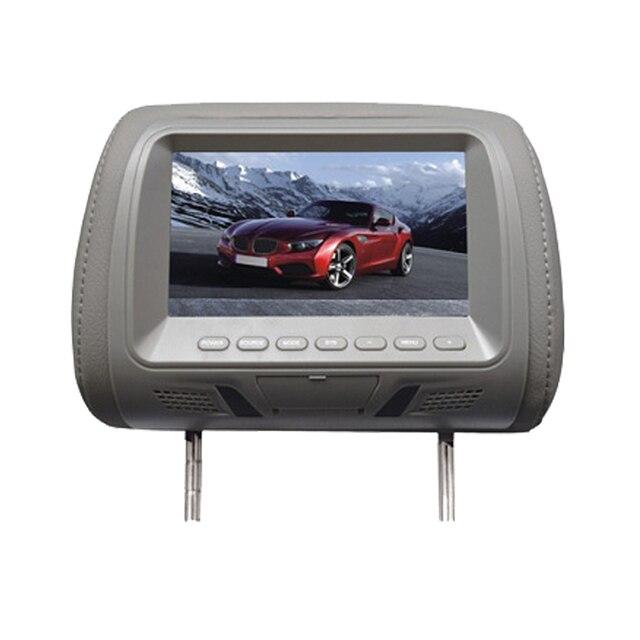 1 Unids Universal 7 pulgadas reposacabezas monitor Del Coche pantalla 7 ''LCD monitor Almohadilla Del Coche monitor de audio del automóvil styling