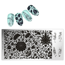 1pc Nail Art Stamping Template Chinese Lotus Flower Image Stamp Plate Dieshan_plas09 Plates Decorations