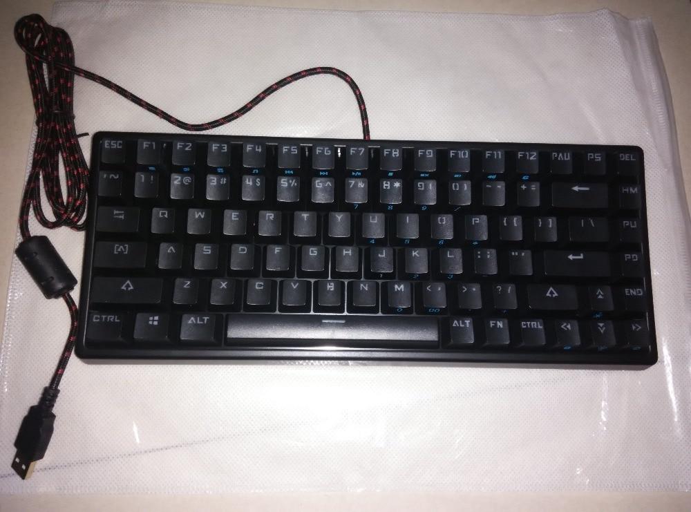 Compact noir keycool 84 mini rétroéclairage LED clavier mécanique kailh mx bleu marron claviers de jeu ANSI touches mécaniques