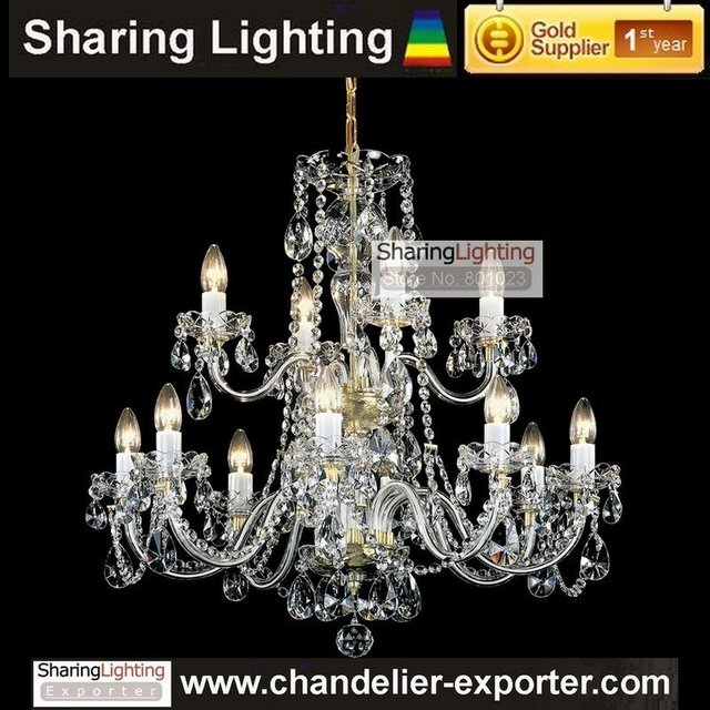 Sharing Lighting 2 Tier Elegant Bohemian Gl Candle Chandelier Pendant Lamp