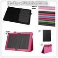 Caso del soporte de cuero para mediapad 10 fhd tablet caso de la cubierta elegante del caso para huawei mediapad 10 link + protectores de pantalla