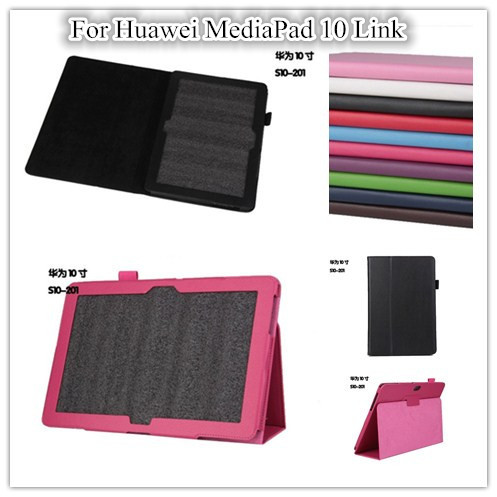 Stand Leather case for  mediapad 10 fhd tablet Smart case for huawei mediapad 10 Link cover case  +Screen Protectors free shipping 3in1 10 1 inch luxury kit stand case crocodile leather cover for huawei mediapad 10 fhd 10 link capa funda